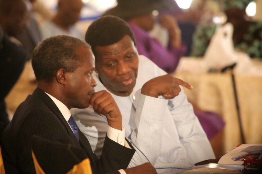 ACTING PESIDENT OSINBAJO AND PASTOR ADEBOYE
