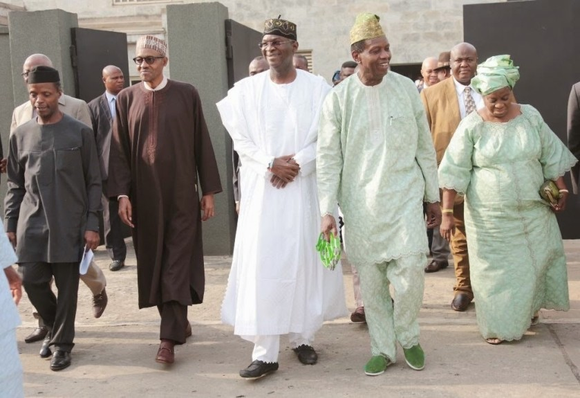 ACTING PRESIDENT OSINBAJO, BUHARI AND OTHER MI ISTERS