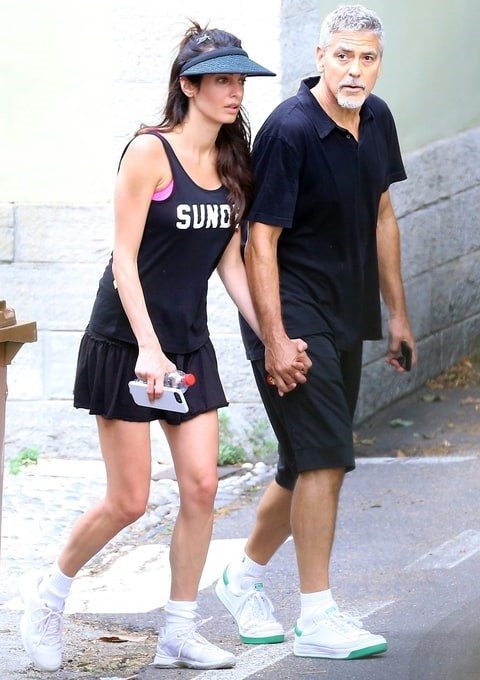 AMAL & GEORGE CLOONEY 2 MONTHS AFTER THE BIRTH OF THEIR TWINS