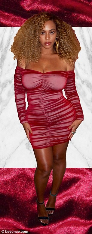 BEYONCE IN A RED BODYCON DRESS#2