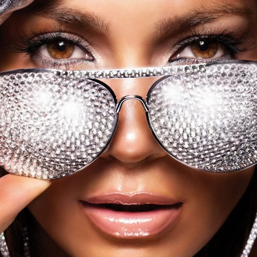 JENNIFER WITH BLINGGED OUT GLASSES