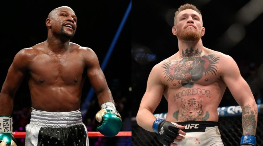 MAYWEATHER & MCGREGOR INTIMIDATING ONE ANOTHER.#3jpg