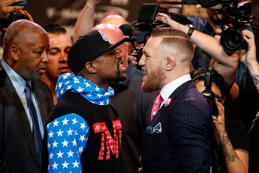 MAYWEATHER & MCGREGOR INTIMIDATING ONE ANOTHER