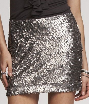 MODEL IN SEQUINED SKIRT#2