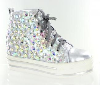 MONOCHROME BLINGED OUT HIGH TOPS