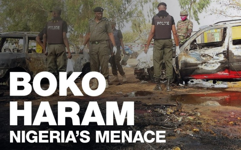 NIGERIAN TROOPS VIEWING BOKO HARAM DESTRUCTION