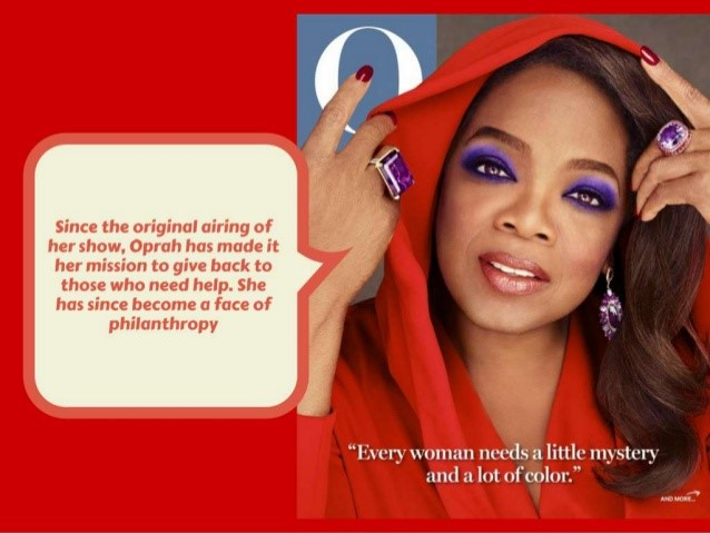 OPRAH WI NFEREY IN PURPLE EYESHADOW