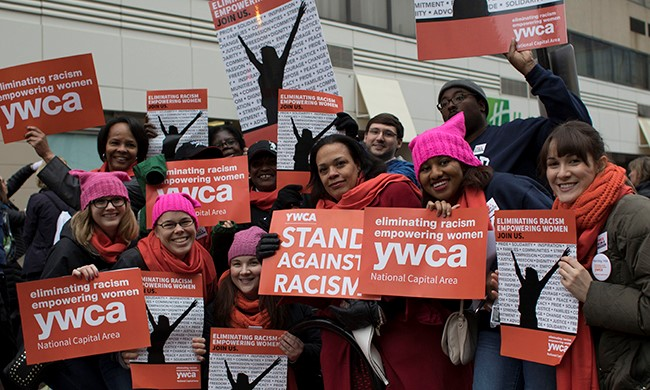 YWCA WOMEN WITH PLACARDS