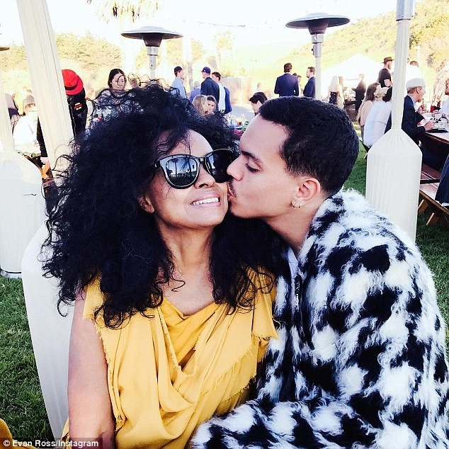 DIANA ROSS AND HER SECOND SON, EVAN ROSS