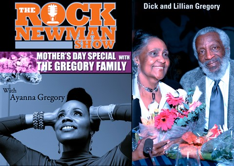 DICK GREGORY AND HIS WIFE LILLIAN GREGORY & THEIR DAUGHTER, AYANNA GREGORYjpg
