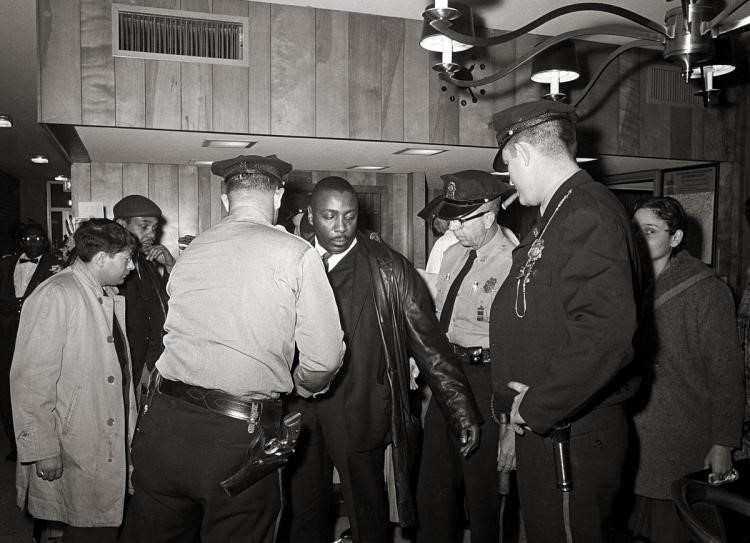 DICK GREGORY, BEING ARRESTED IN THE 60S DURING THE CIVIL RIGHTS MOVEMENT