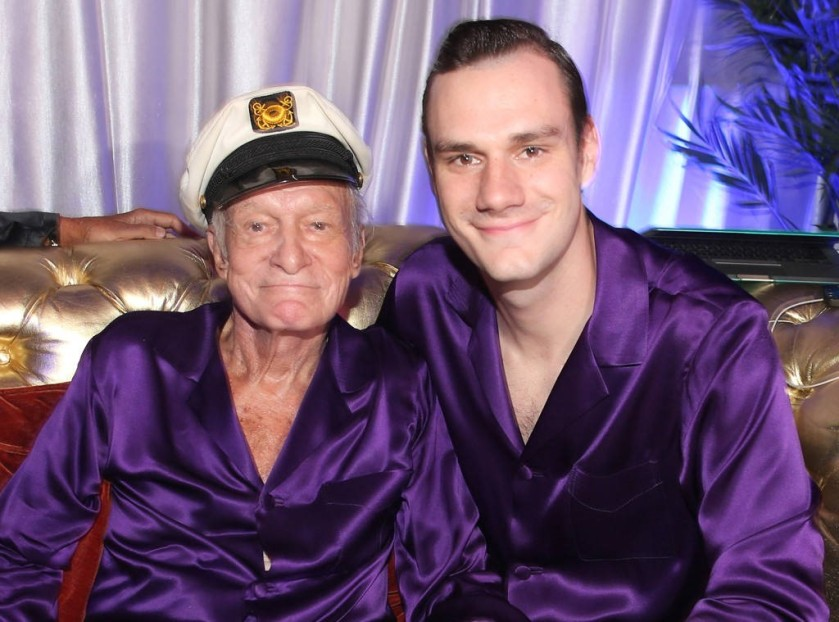 HUGH HEFNER & HIS SON, COOPER HEGFNER #2 BIGGER