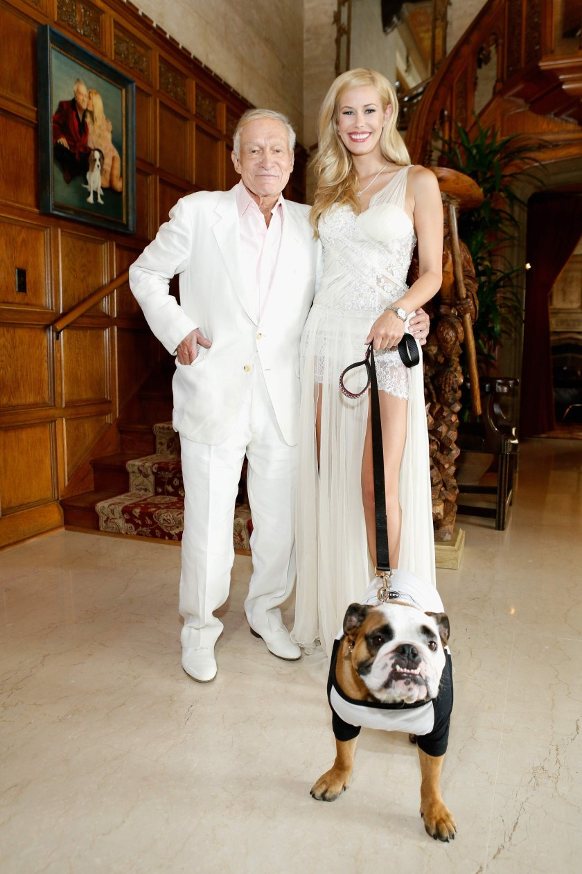 HUGH HEFNER IN 2014 WITH PLAYMATE OF THE YEAR, KENNEDY SUMMERS#1