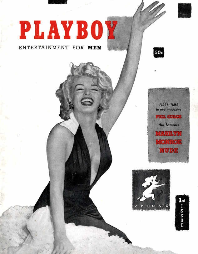 HUGH HEFNER - MARILYN MONROE AS THE 1ST COVER GIRL FOR PLAYBOY#1