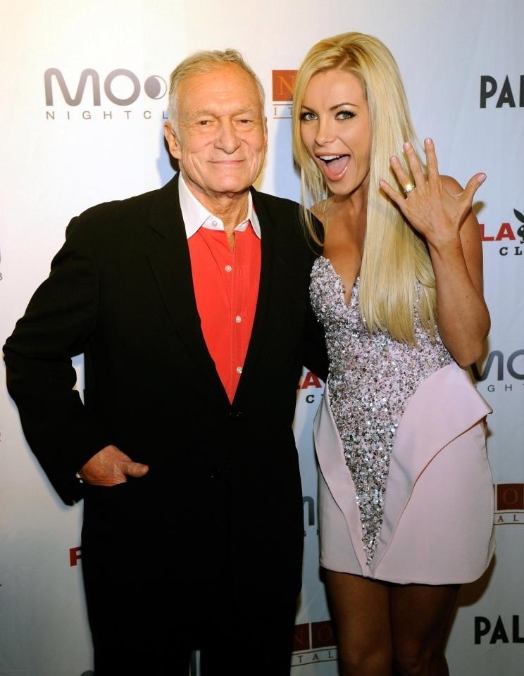 HUGH HEFNER & WIFE CRYSTAL HARRIS IN 2012#1