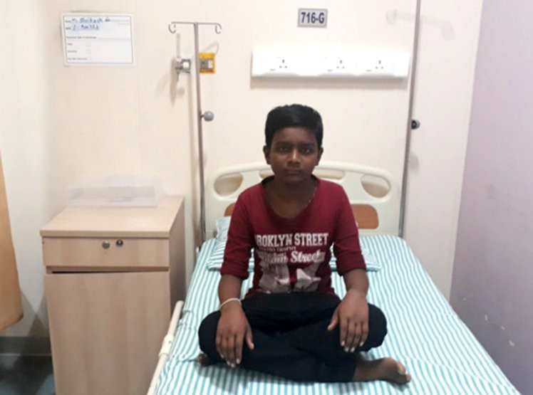 INDIAN BOY WITH CANCER#1