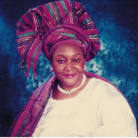 KUDIRAT ABIOLA IN A COLOURED PHOTOGRAPH