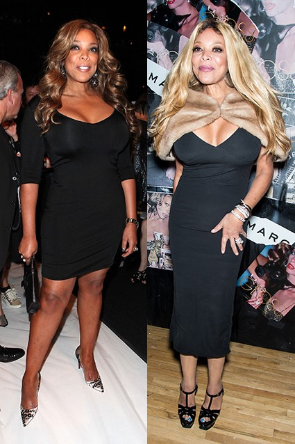 WENDY WILLIAMS FAT AND THEN SKINNY WITH A FUR STOLE#1