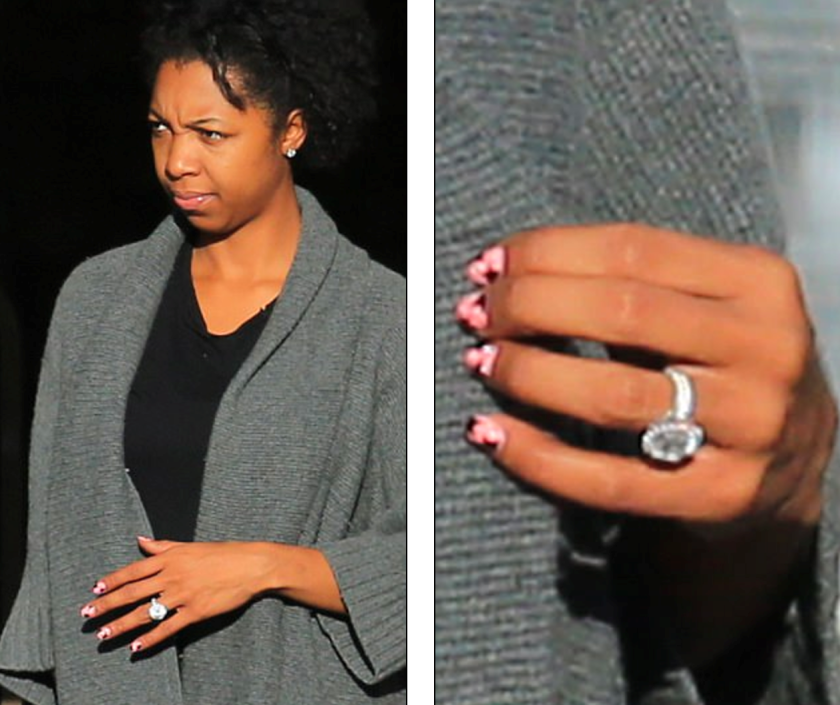 WENDY`S HUSBAND KEVIN HUNTER`S MISTRESS, SHARINA HUDSON WALKING AROUND WITH A DIAMOND RING