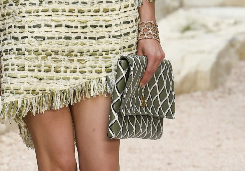CHANEL 2018 CLUTCH BAG FROM THE GREECE INSPIRED RUNWAY
