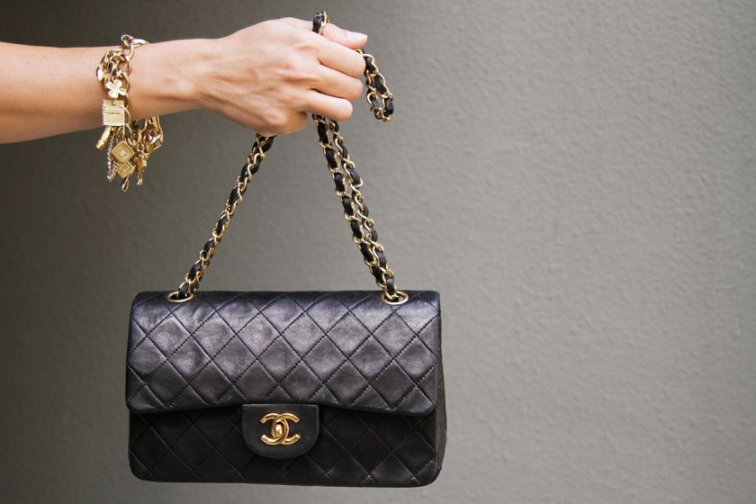 CHANEL CLASSIC BAG WITH GOLD HARDWARE