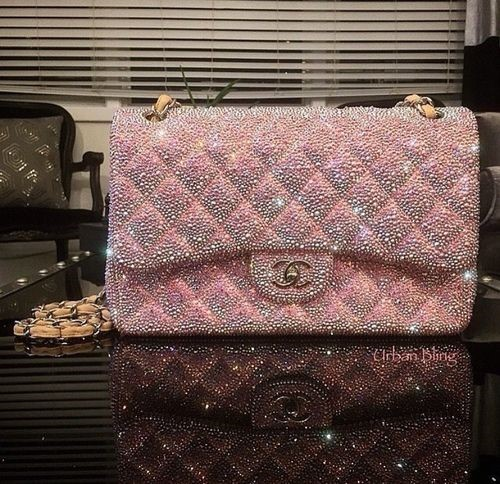 CHANEL SS18 BLING ENCRUSTED FLAP BAG