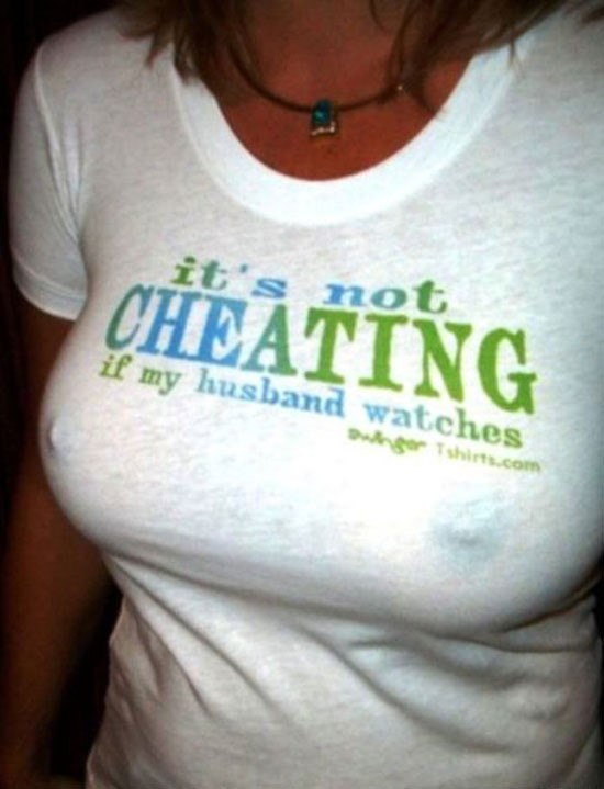 CHEATING HUSBAND TEE SHIRT PHOTO