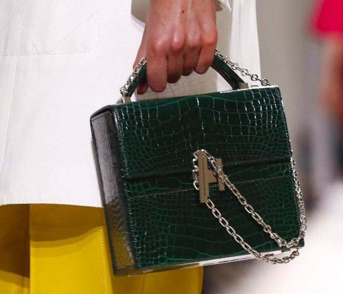 HERMES SS18 RESORT HANDBAG IN GREEN