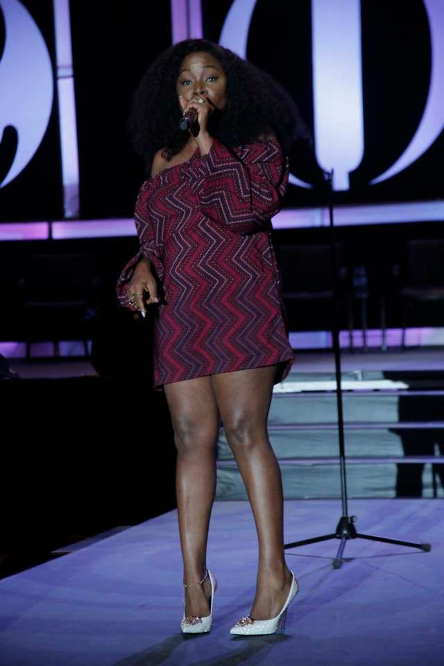 NIGERIAN FEMALE ARTIST OMAWUMI MEGBELE ON STAGE