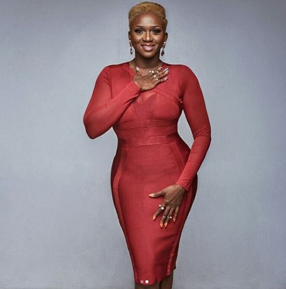 NIGERIAN FEMALE ARTIST WAJE IROUBE IN A RED DRESS#2
