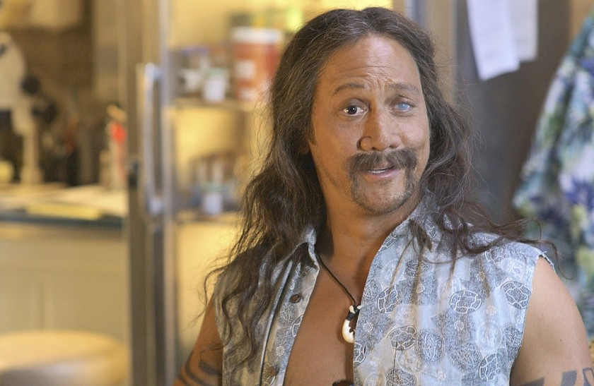 ROB SCHNEIDER WITH A FAKE EYE